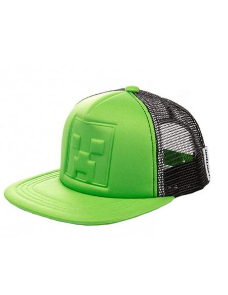 Сетчатая кепка снепбек Minecraft Creeper-3D для мальчиков 52-56 см