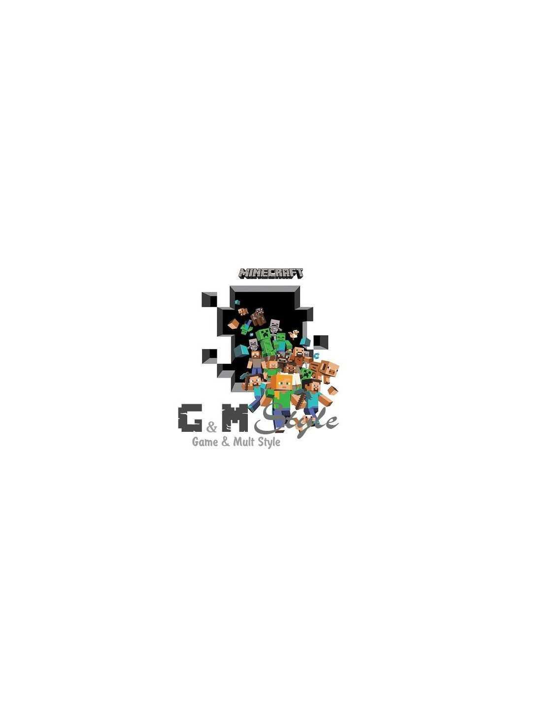 Наклейка стикер Minecraft интерьерная Герои