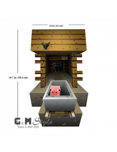 Наклейка стикер Minecraft интерьерная Свинка большая