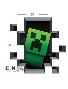 Наклейка стикер Minecraft интерьерная Крипер