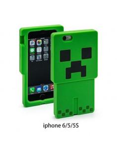 Силиконовый 3D бампер Minecraft Creper на IPhone 5