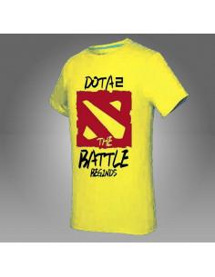 Футболка Dota2 The Battle Beginds жёлтая