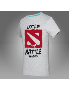 Футболка Dota2 The Battle Beginds серая