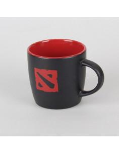 Чашка с логотипом Dota2 чёрная с красным