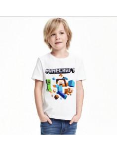 Футболка Minecraft белая Герои