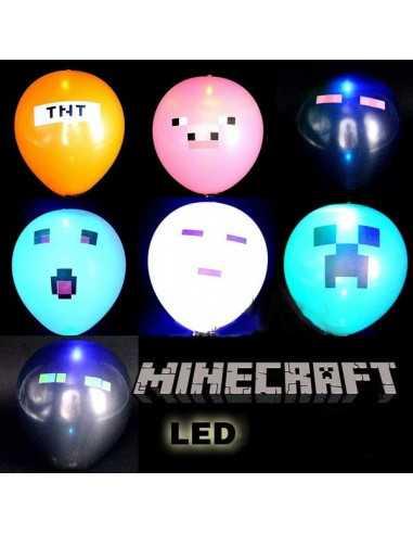Шарики надувные c подсветкой Майнкрафт (Minecraft)