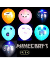 Шарики надувные c подсветкой Minecraft