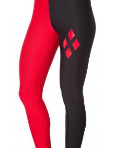 Леггинсы Harley Quinn (черный и красный)