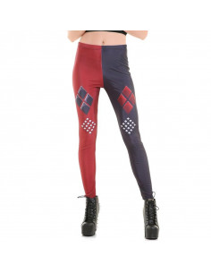 Леггинсы Harley Quinn красно-синие