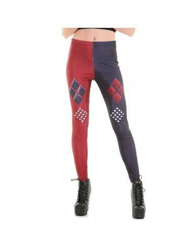 Легинсы Harley Quinn красно-синие
