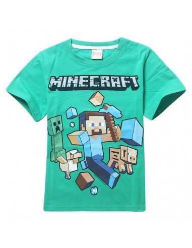 Футболка Minecraft зеленая (Майнкрафт) Герои