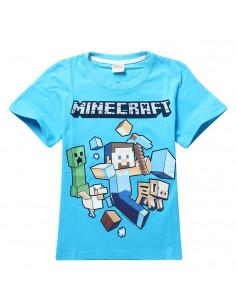 Футболка Minecraft Герои голубая
