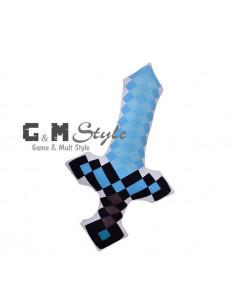 Мягкая игрушка Алмазный меч Minecraft округлый