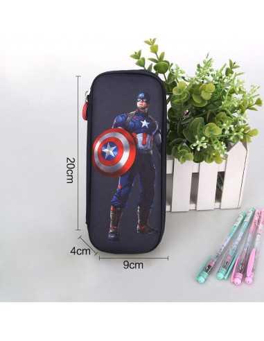 Пенал Marvel Captain America темно-синий