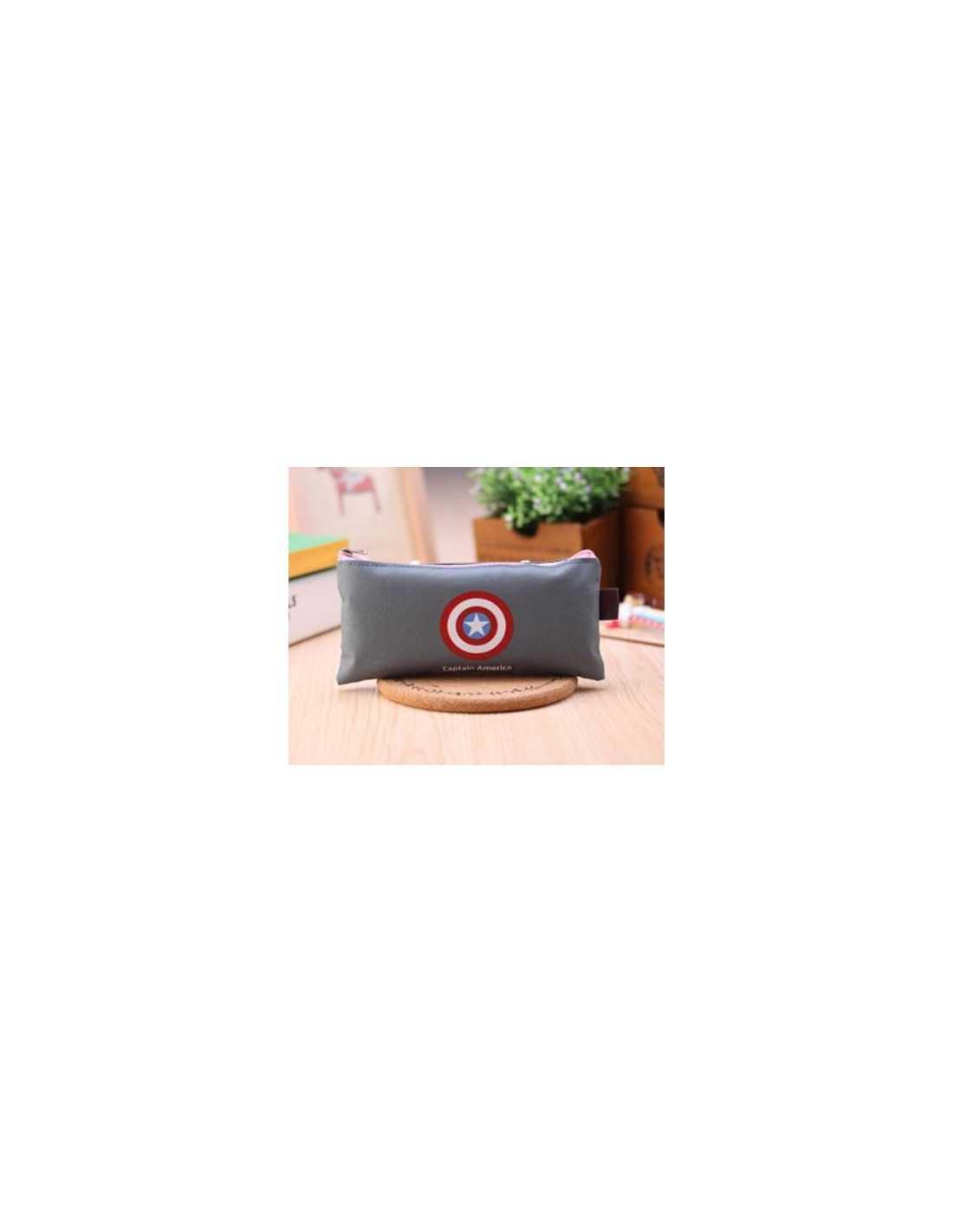 Пенал Marvel Captain America серый