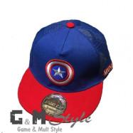 Детская кепка рэперка Капитан Америка Marvel