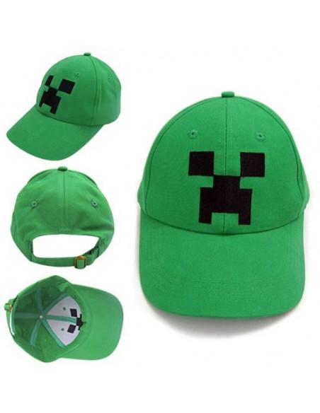 Кепка бейсболка Minecraft зеленая