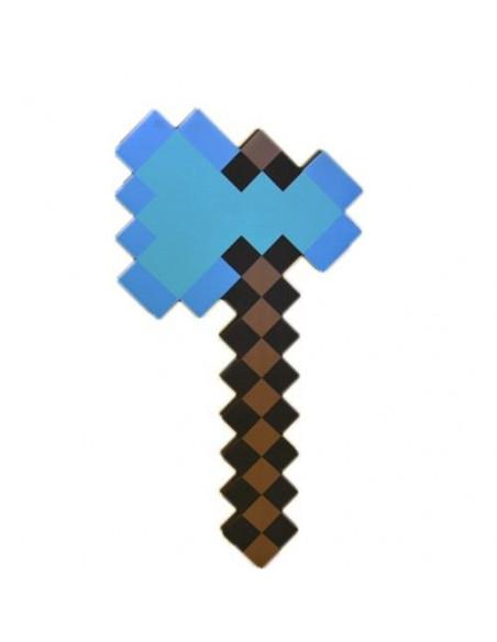 Пиксельный Алмазный топор Майнкрафт Minecraft Diamond Axe