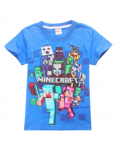 Футболка Все Герои Вперед! синяя Minecraft