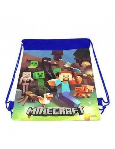 Рюкзак легкий синий Mineсraft для сменной обуви и одежды