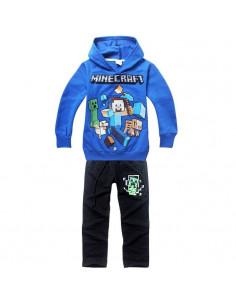 Костюм на мальчика Minecraft синий с черным