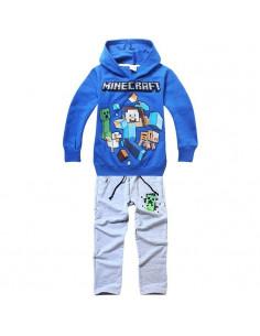 Костюм на мальчика Minecraft синий реглан серые брюки
