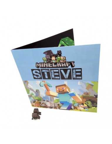 Поздравительная открытка Minecraft Стив Оригинал