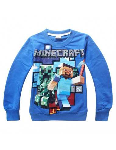 Реглан на мальчика Minecraft Герои синий