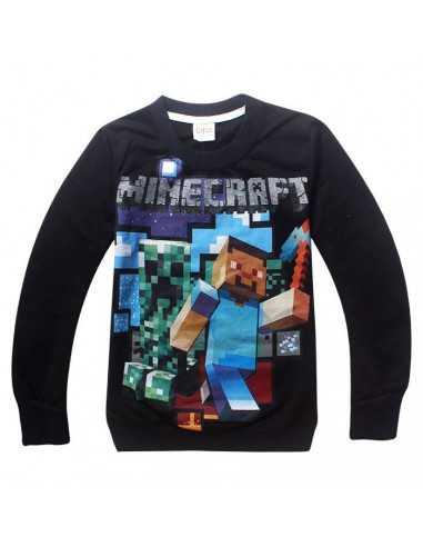 Реглан на мальчика Minecraft Герои черный