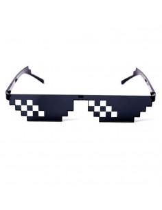 Пиксельные очки Майнкрафт Deal with it Minecraft черные два ряда