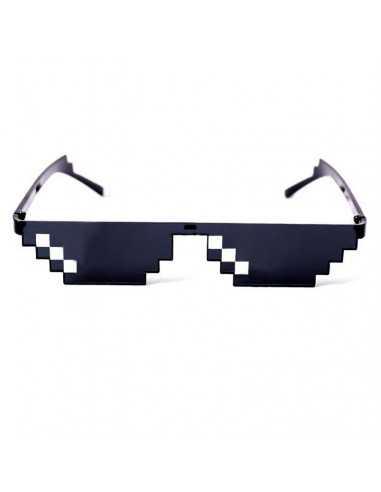 Пиксельные очки Майнкрафт Deal with it Minecraft черные один ряд
