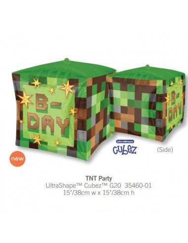 Шарик воздушный куб Minecraft надувной фольгированный Оригинал