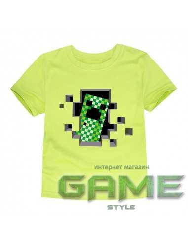 Футболка Minecraft Creeper светло-зеленая