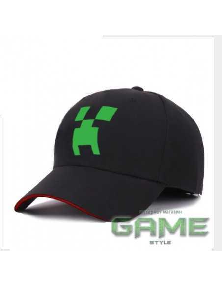 Кепка блайзер Minecraft Creeper черная