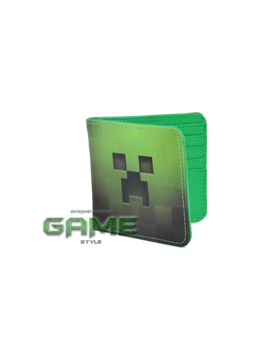 Бумажник Minecraft Creeper