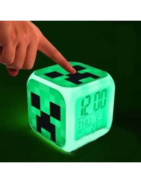 Часы будильник LED Minecraft Creeper