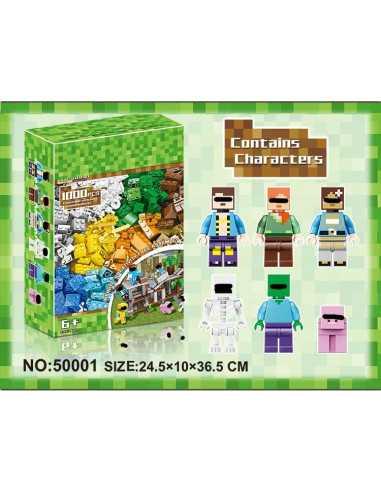 Конструктор  Minecraft 1000 деталей для свободного творчества