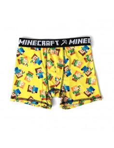Трусы боксеры для мальчиков Minecraft желтые