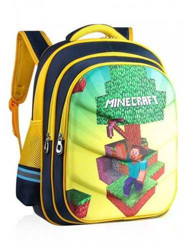 Рюкзак школьный Minecraft ортопедическая спинка желтый 42 см