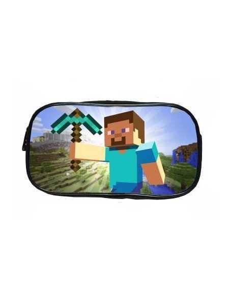 Пенал большой школьный Minecraft Стив