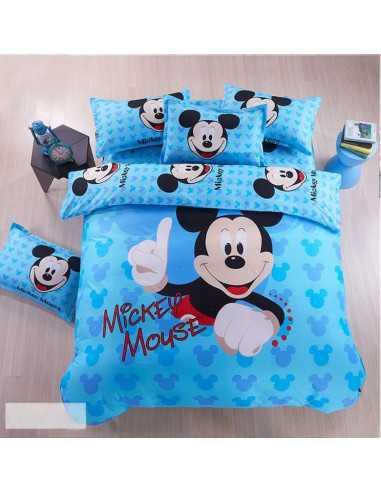 Детское постельное белье Mickey Mouse голубой