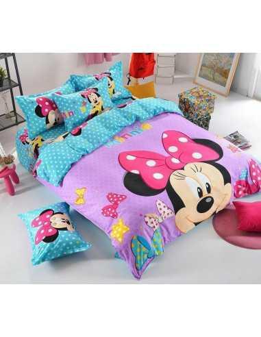 Детское постельное белье Minnie Mouse голубой