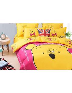 Детское постельное белье Винни Пух розовый
