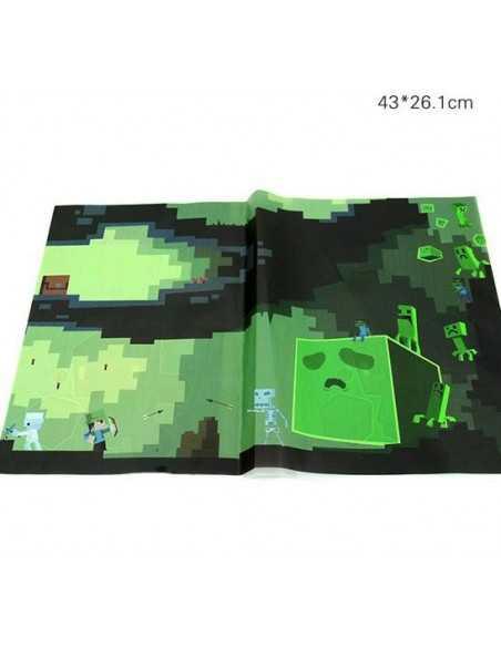Набор обложек для тетрадей и книг Minecraft. 10шт