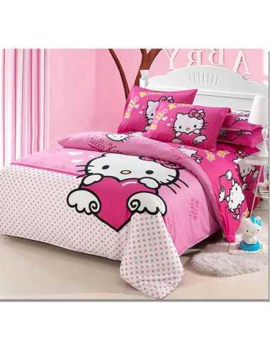 Детское постельное белье Hello Kitty Love