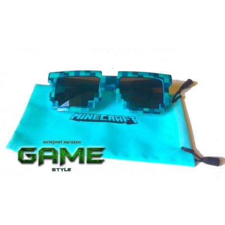 Детские солнцезащитные очки Майнкрафт (Minecraft) синие