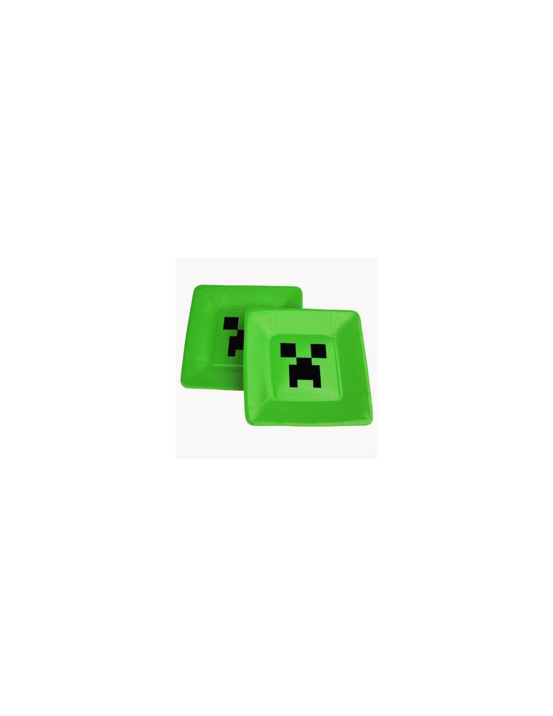Бумажная тарелка Minecraft Creeper Plates