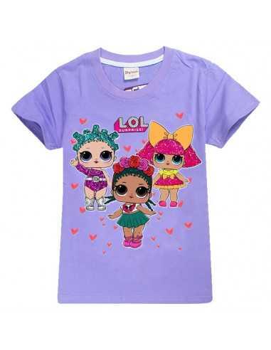 Футболка для девочки LOL Surprise фиолетовая