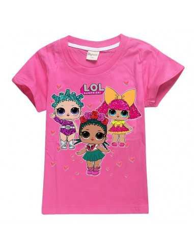 Футболка для девочки LOL Surprise ярко-розовая