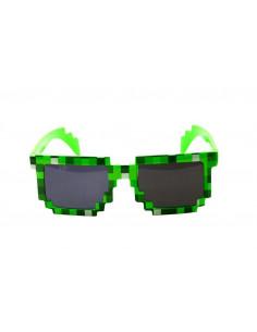 Пиксельные детские солнцезащитные очки Minecraft зеленые